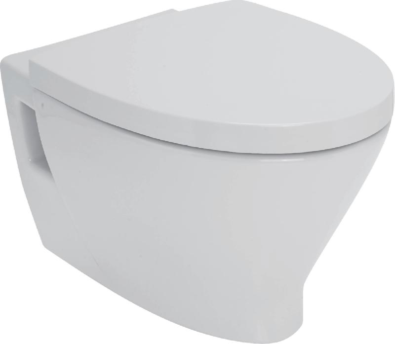 Pack wc suspendu seducta blanc avec abattant - Pack toilette suspendu ...
