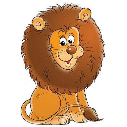 Sticker adhésif mural : lion pour décoration enfant