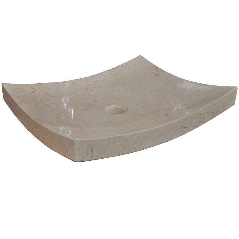 vasque en marbre zen 50 x 35 cm cr me comparer les prix de vasque en marbre zen 50 x 35 cm. Black Bedroom Furniture Sets. Home Design Ideas