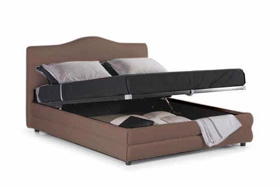 lit coffre design charlotte taupe couchage 160 200cm. Black Bedroom Furniture Sets. Home Design Ideas
