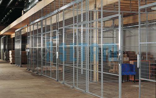 Cloison grillag e industrielle largeur 150 cm comparer les for Cloison separation industrielle