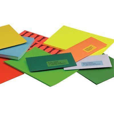 Boîte de étiquettes coloris bleu