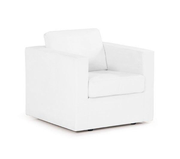 fauteuil dreamer fixe cuir blanc design. Black Bedroom Furniture Sets. Home Design Ideas