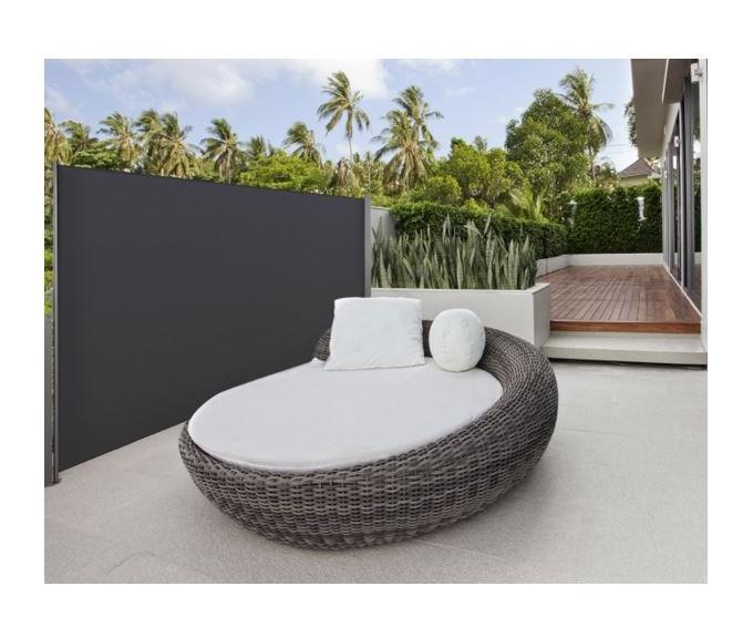 paravent ext rieur r tractable 300x180cm gris anthracite. Black Bedroom Furniture Sets. Home Design Ideas