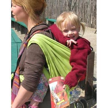Storchenwiege - echarpe porte bébés louise verte 100% coton biologique 4.60m 14782ce3ac1