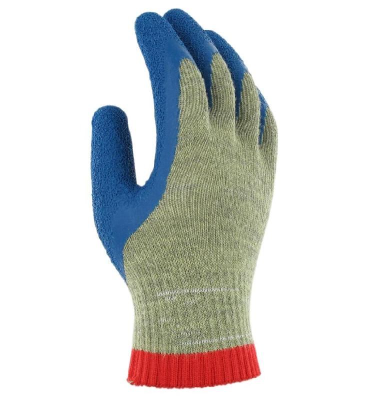 GANTS HAUTE PROTECTION ANTI-COUPURES KEVLAR ENDUITS LATEX T.7