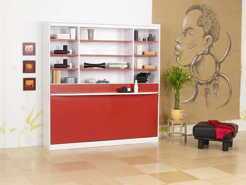 Lit Escamotable 90 Cm Transversale Studio 2000 Griffon Etageres