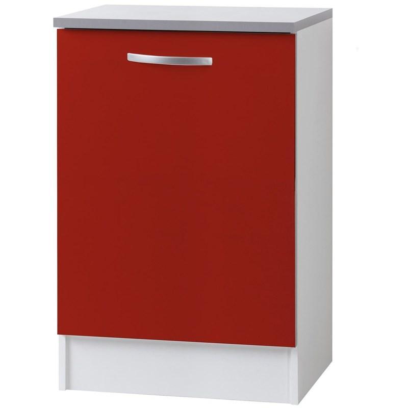 meuble bas de cuisine smoothy season rouge l 60 x p 60 x h 86 cm livraison gratuite. Black Bedroom Furniture Sets. Home Design Ideas