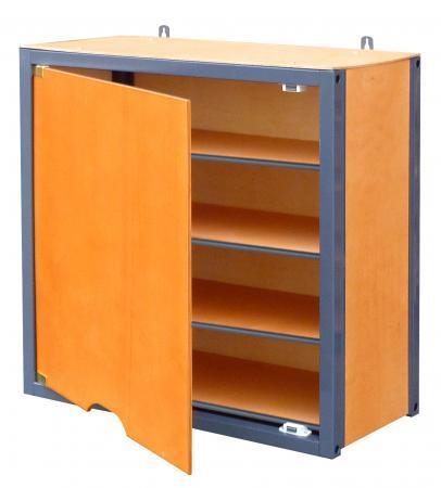 0012321 bloc de rangement haut 3 tag res avec porte gamme modulable bois m tal comparer les. Black Bedroom Furniture Sets. Home Design Ideas