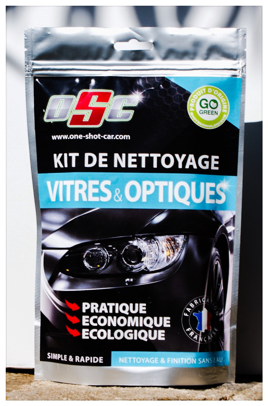 kits de nettoyage pour voiture special vitres et optiques. Black Bedroom Furniture Sets. Home Design Ideas