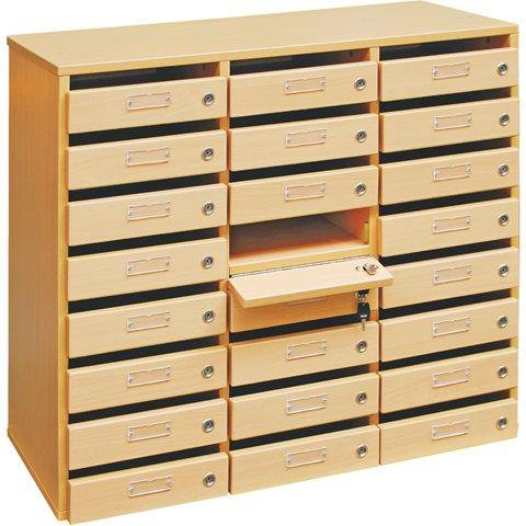 Meubles courrier 24 cases h tre comparer les prix de for Meuble 12 cases