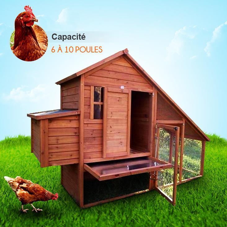 poulailler en bois kit. Black Bedroom Furniture Sets. Home Design Ideas