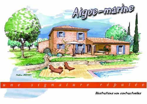 villa etage partiel pour le modele aigue marine. Black Bedroom Furniture Sets. Home Design Ideas