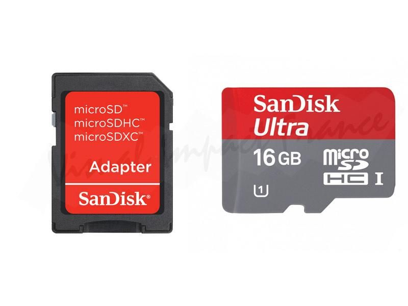 Carte mémoire microsdhc 16go, classe 10, 30mb/s