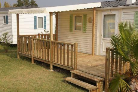 Terrasse avec couverture ou semi couverture