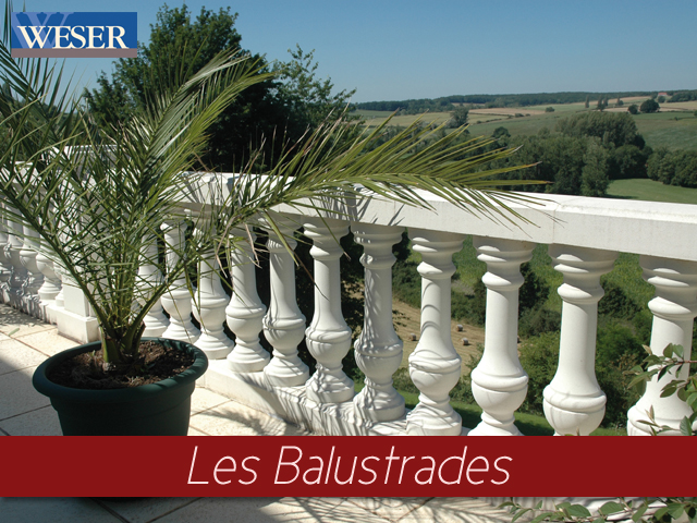 les balustrade weser pour terrasse et balcon. Black Bedroom Furniture Sets. Home Design Ideas