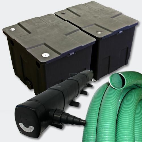 Kit de filtration de bassin 60000l stérilisateur uvc 72 watts 5m tuyau 4216499