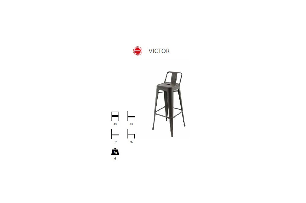 siege de bar victor. Black Bedroom Furniture Sets. Home Design Ideas