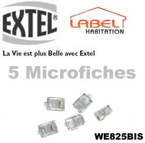 5 MICRO-FICHES RJ45 EXTEL - WE825BIS