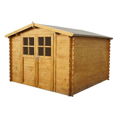 abri de jardin azur 3x3 28 mm comparer les prix de abri de jardin azur 3x3 28 mm sur. Black Bedroom Furniture Sets. Home Design Ideas