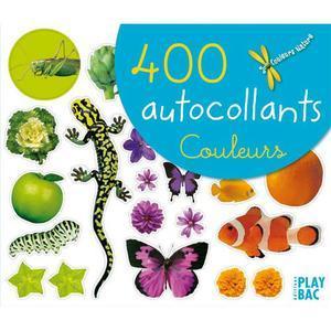 AUTOCOLLANTS COLLECTION COULEURS NATURE, FORMAT 26 X 22 CM, THÈME LES COULEURS