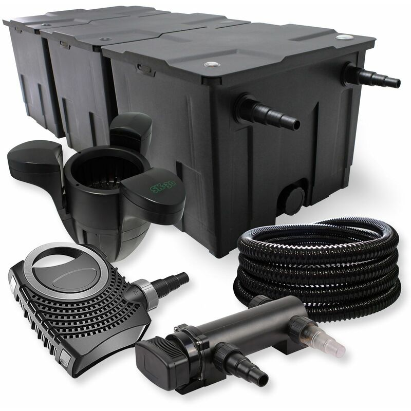 Filtration uv bassin trendy superfish flowclear kit for Kit de filtration pour bassin pas cher