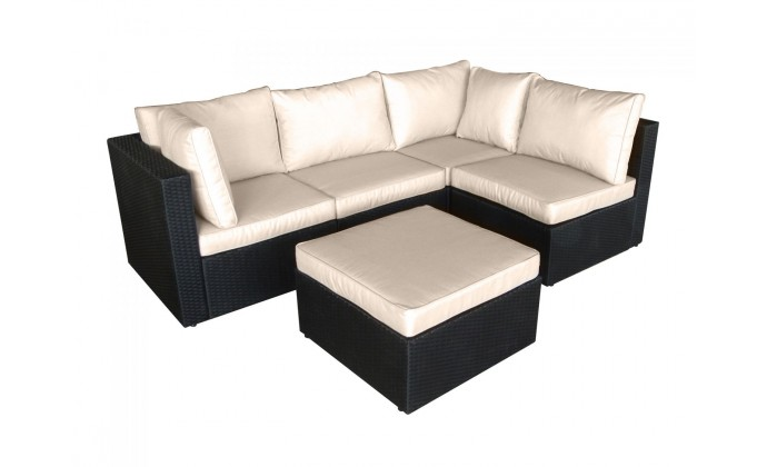 milano ecru salon de jardin modulable 5 places. Black Bedroom Furniture Sets. Home Design Ideas