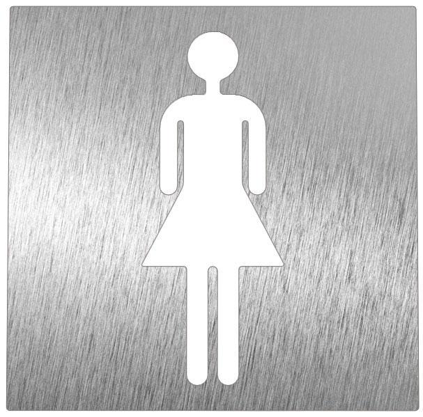 Pictogramme inox toilette femme comparer les prix de for Panneau inox autocollant