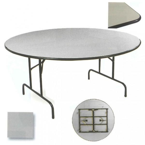 table repliable ronde chant antichoc. Black Bedroom Furniture Sets. Home Design Ideas