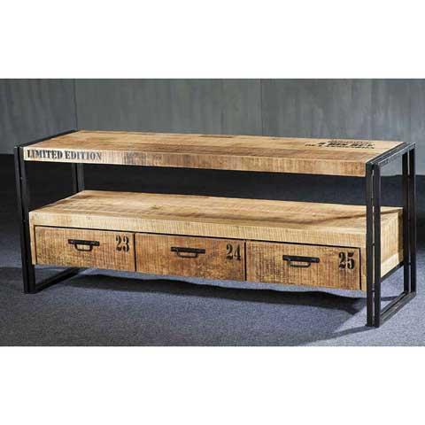 Meuble tv style industriel 3 tiroirs