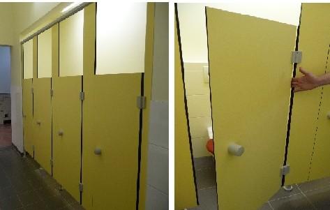 Cloisons pour sanitaires et vestiaires tous les for Porte accordeon pour douche