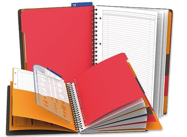 CAHIER SPIRALE MANAGERBOOK 80G, A4, 160 P, L6+5X5, OXFORD INTERNAT - NEUF - OXFORD INTERNATIONAL