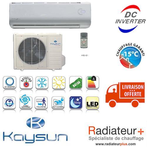 CLIMATISATION RÉVERSIBLE KAYSUN SUITE 3.0 KAY-26 DN5  (2.64 KW)