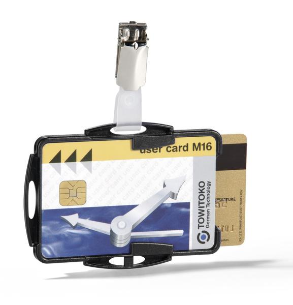new lower prices shades of cheap prices Porte-badge ouvert avec clip pour 2 cartes de securite n° d ...