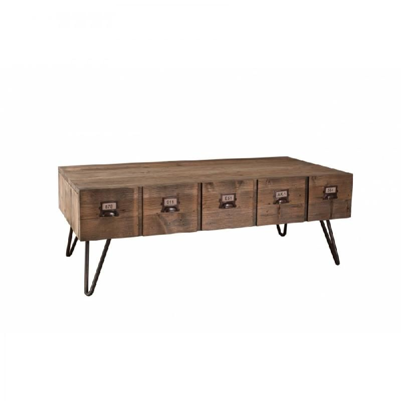 Table basse adam en bois acacia style colonial comparer for Table basse en acacia