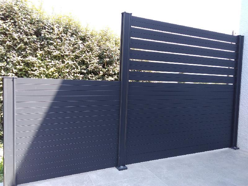 Clôture en aluminium - lame rectangulaire