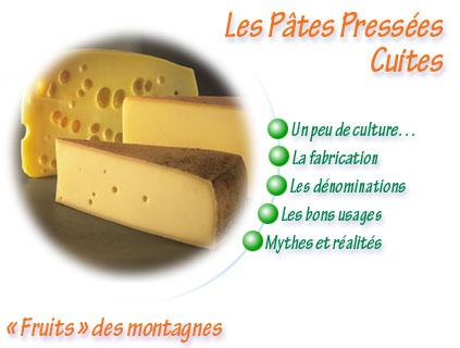 fromage les pates pressees cuites