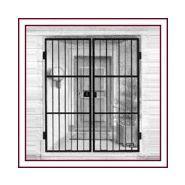 Grille de protection d'entrée - alu catalan - grille ouvrantes un et deux vantaux