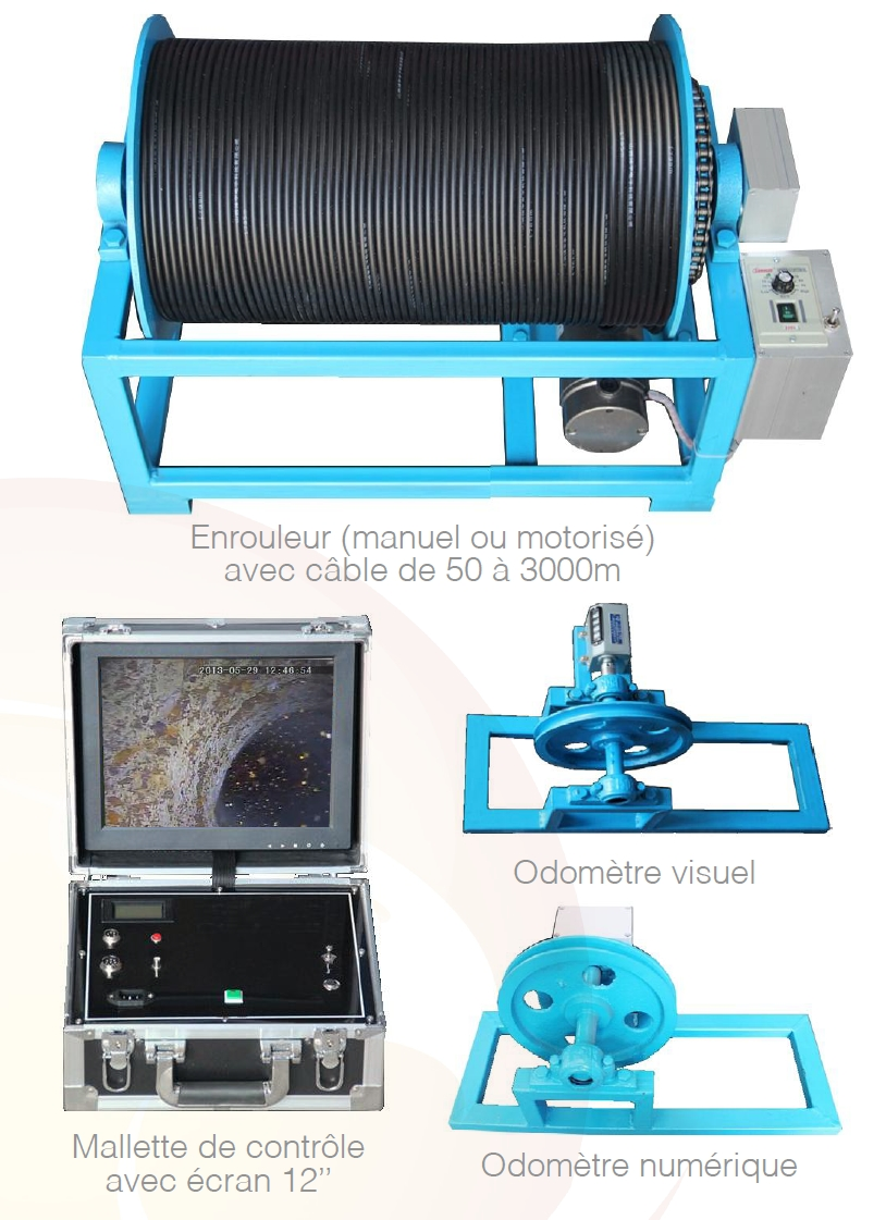 Camera de forage / immergeable - gamme xp well 3000