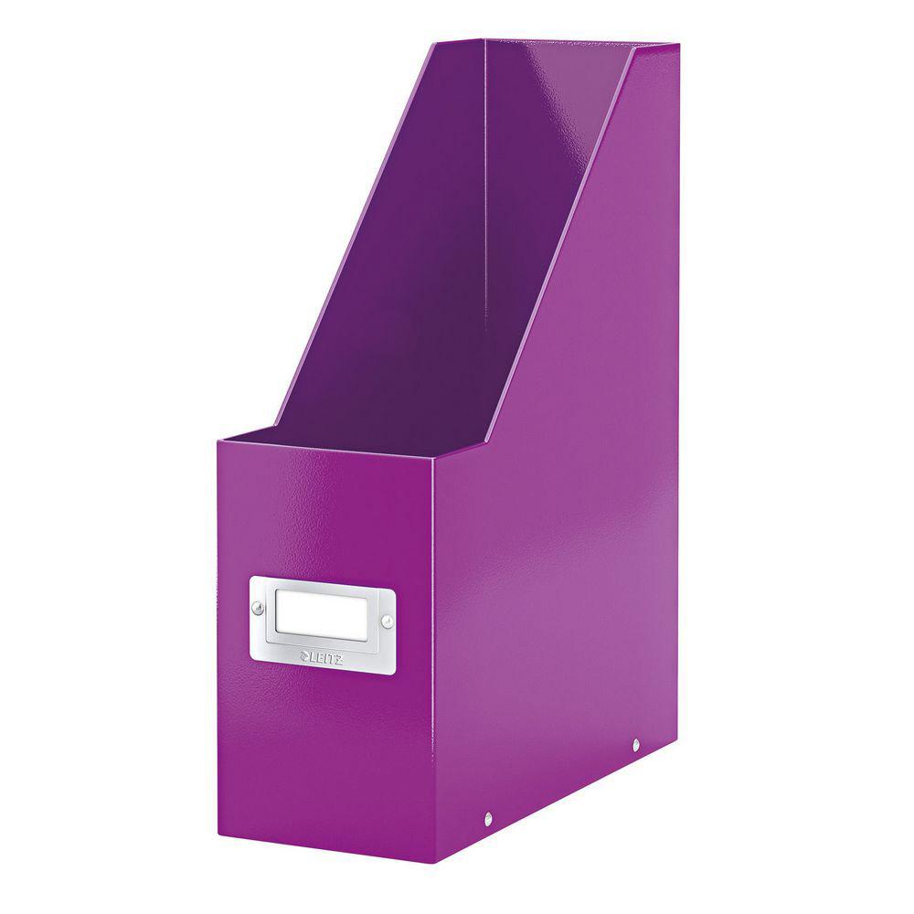 porte revues leitz wow en carton recouvert polypropyl ne dos 10 cm violet comparer les prix. Black Bedroom Furniture Sets. Home Design Ideas