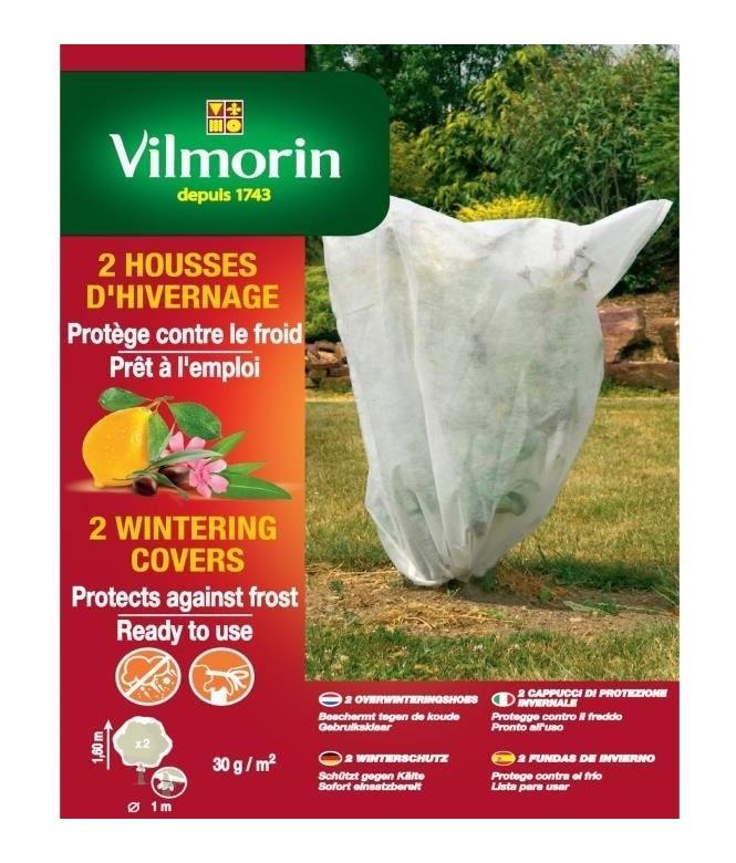 HOUSSE D'HIVERNAGE VILMORIN PP 30 G/M² BLANCHE 1.60M X 1.60M LOT DE 2