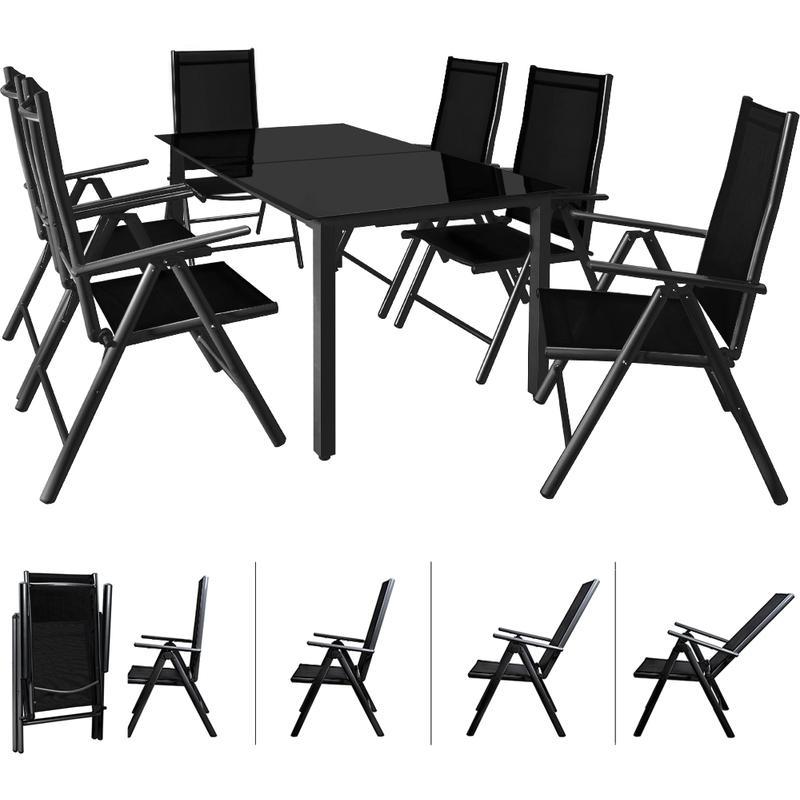 Salon De Jardin Aluminium Anthracite Ou Argent Ensemble Table 6