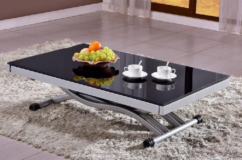 Table Basse Reaux 120 X 60 Cm Décor Chêne Et Blanc Laque Mat