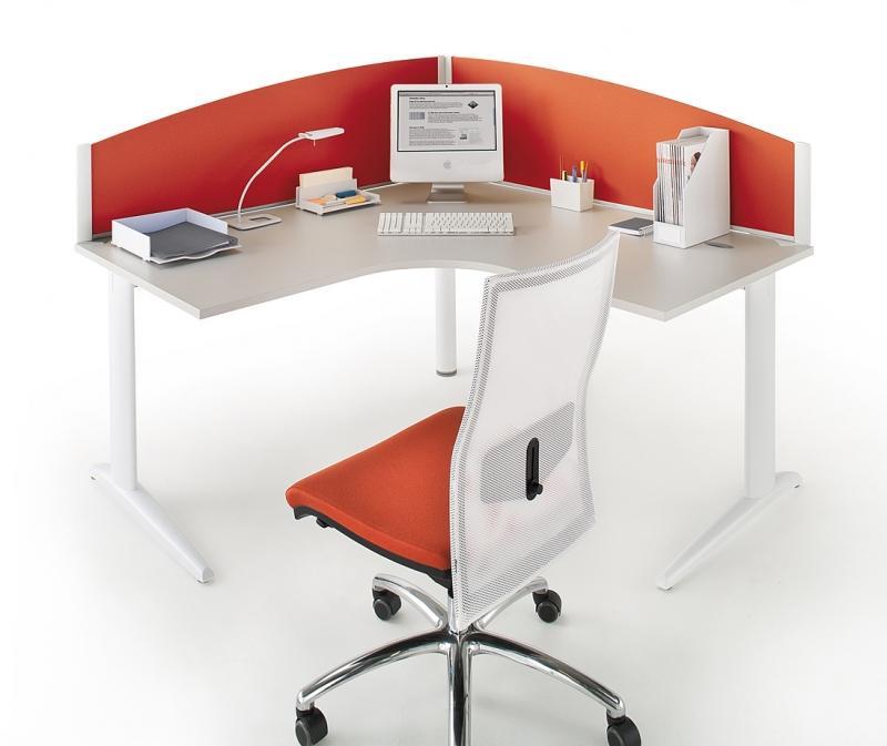 bureau compact 90 retour symetrique 140x140x80. Black Bedroom Furniture Sets. Home Design Ideas