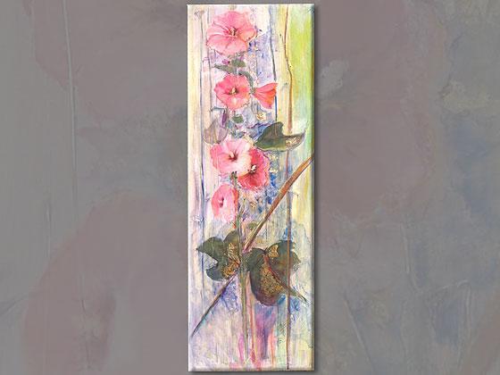 peinture sur toile impression de rose tremiere  produit