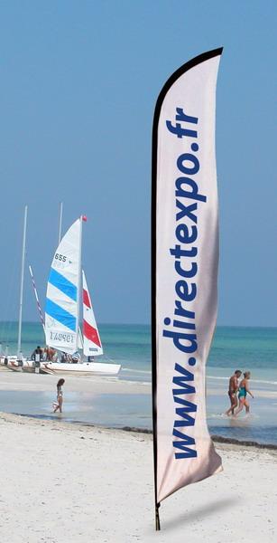 Porte drapeaux xtrem beach 4 metres for Porte drapeaux