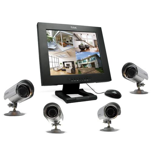 kit videosurveillance ip 4 cameras et disque dur integre ipsv 87050 2. Black Bedroom Furniture Sets. Home Design Ideas
