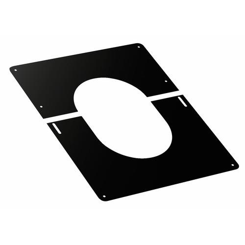 PLAQUE DE FINITION - NOIRE - POUR PLAFOND - POUR CONDUIT DUOTEN TEN