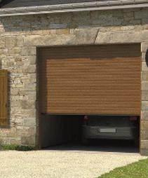 Porte de garage enroulable excelis motorisee lames en - Porte de garage enroulable aluminium ...