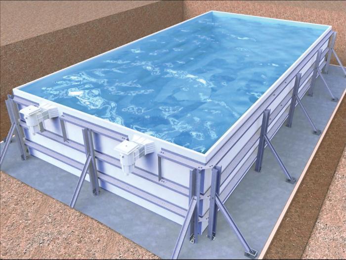 Piscine en kit tous les fournisseurs piscine hors sol for Piscine hors sol structure metallique